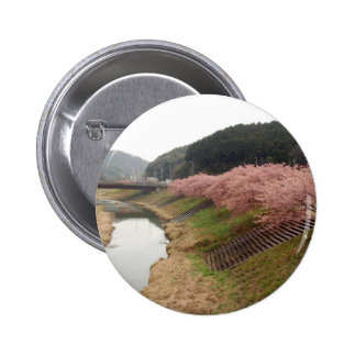 Cherry tree blossoms in Japan 6 Cm Round Badge