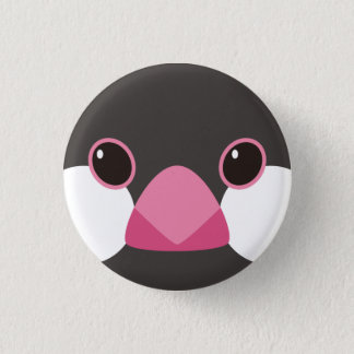 Cherry tree java sparrow - Java sparrow (black) 3 Cm Round Badge