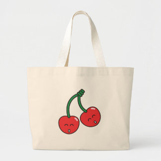 Cherry Twins Large Tote Bag