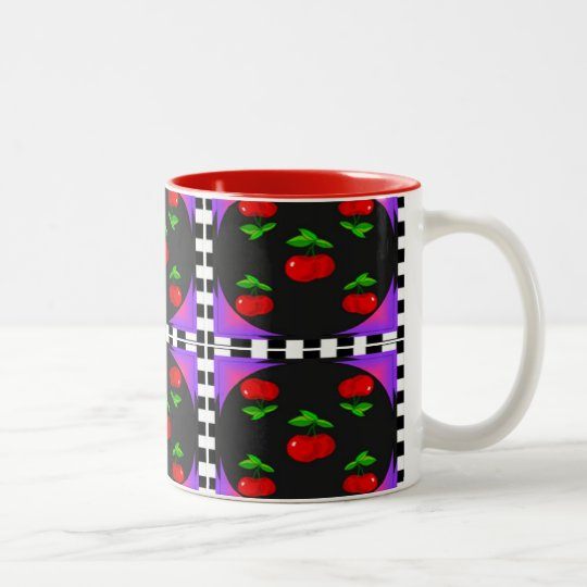 Cherry Two-Tone Coffee Mug