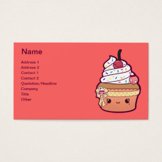 Cherry Vanilla Cupcake Business Card