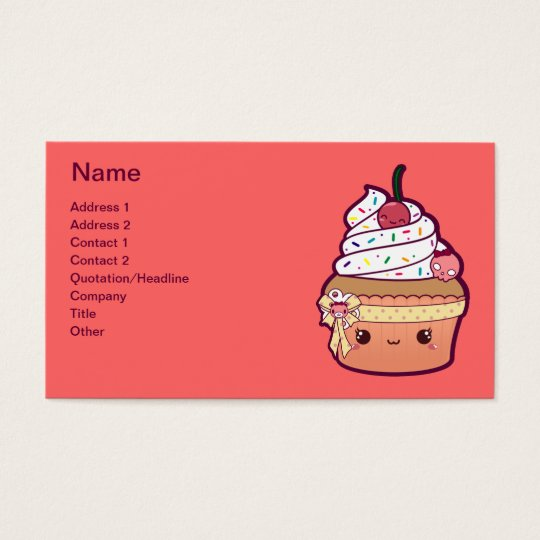 Cherry Vanilla Cupcake Business Card