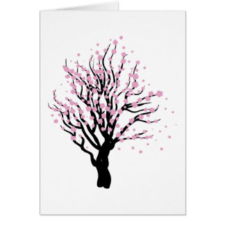 Cherry with blossom greeting card