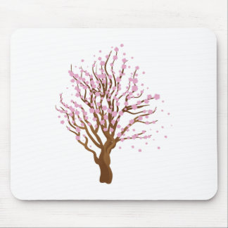 Cherry with blossom mouse pad