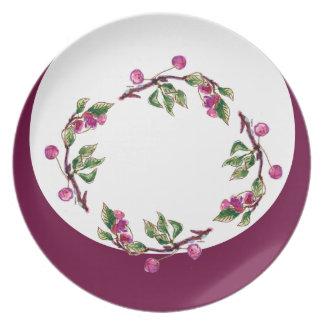 Cherry Wreath by Alexandra Cook aka Linandara Dinner Plates