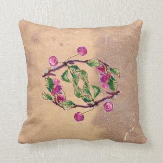 Cherry Wreath by Alexandra Cook Throw Cushion