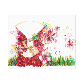 CherryBlossom Stretched Canvas Print