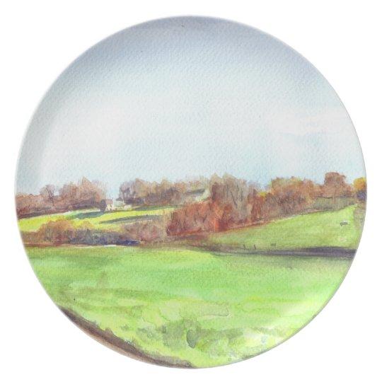 Cherryburn farm Melamine plate