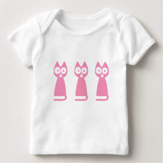 Cherrypink Triangle Symbolic Cat Baby T-Shirt