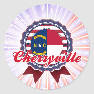 Cherryville, NC Round Sticker