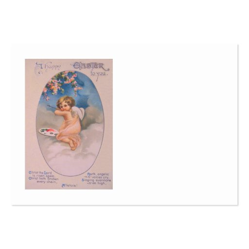 Cherub Angel Cherry Tree Painting Pallet Christian Business Cards
