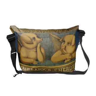 Cherub Angel Pig Messenger Bag