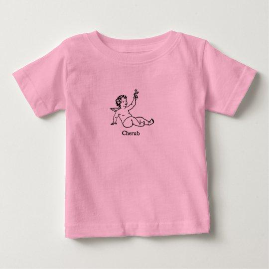 Cherub Angel with flower Baby T-Shirt