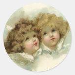 Cherub Angels Round Sticker
