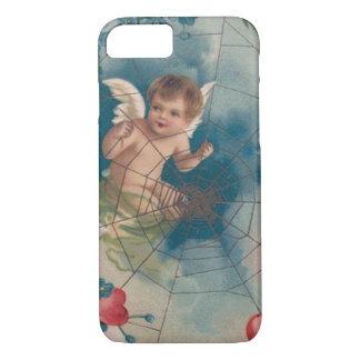 Cherub Cupid Cobweb Forget-Me-Not Heart iPhone 7 Case