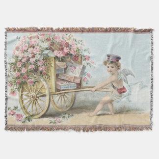 Cherub Cupid Mail Rose Candy Cart