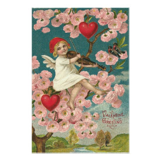 Cherub Cupid Rose Heart Violin Tree Bird Photograph