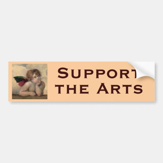 Cherub from Sistine Madonna by Raphael Bumper Sticker