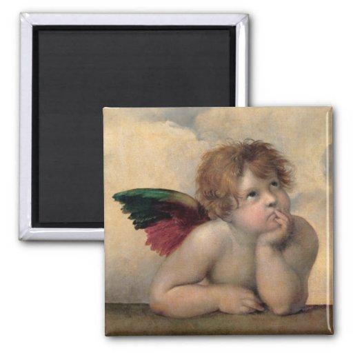 Cherub from Sistine Madonna by Raphael Refrigerator Magnet
