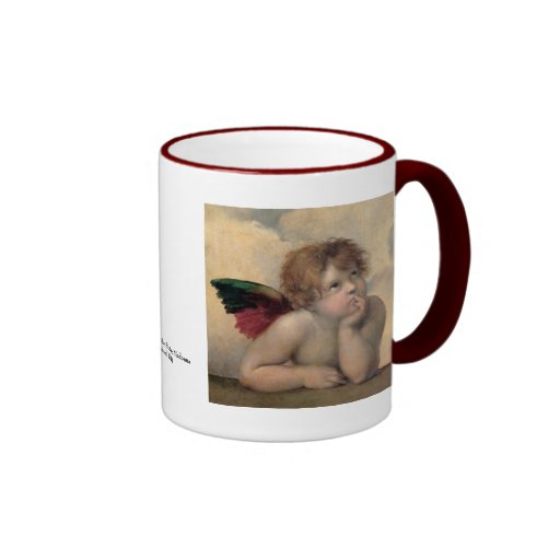 Cherub from Sistine Madonna by Raphael Mug