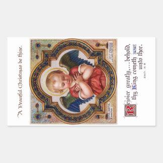 Cherub in Ornate Gilded Frame Rectangular Sticker
