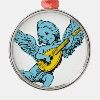 Cherub Playing Guitar Christmas Ornament