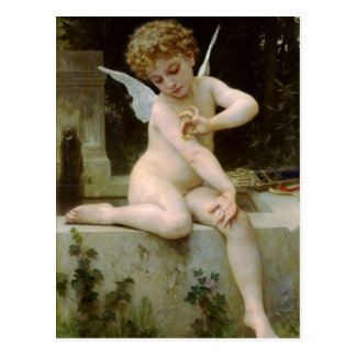 Cherub With A butterfly Postcard