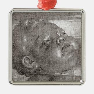 Cherubim Crying, 1521 Silver-Colored Square Decoration