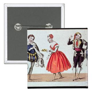 Cherubino, Fanchette and Figaro 15 Cm Square Badge
