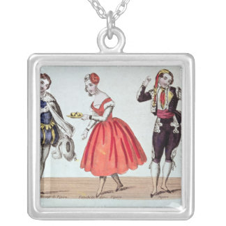 Cherubino, Fanchette and Figaro Silver Plated Necklace