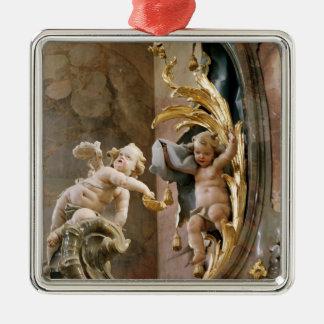 Cherubs, 1737-66 Silver-Colored square decoration