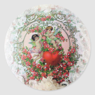 Cherubs and Lace Valentine s Day Stickers