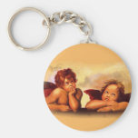 Cherubs, Angels, After Raphael: Original Artwork Keychains