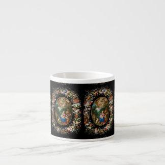 Cherubs Offer Gifts to Christ Child Espresso Mug