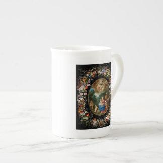 Cherubs Offer Gifts to Christ Child Bone China Mug