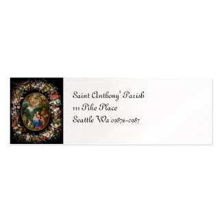Cherubs Offer Gifts to Christ Child Pack Of Skinny Business Cards