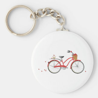 Chery Cherry Bicycle Basic Round Button Key Ring