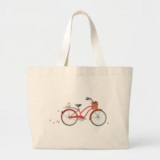 Chery Cherry Bicycle Jumbo Tote Bag