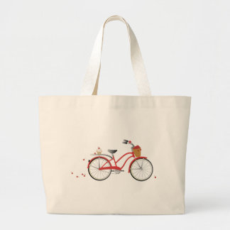 Chery Cherry Bicycle Large Tote Bag
