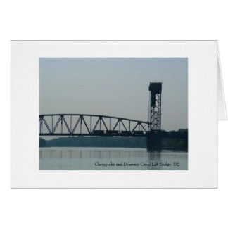 Chesapeake and Delaware Canal Lift Bridge, DE. Card