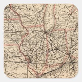 Chesapeake and Ohio Railway Square Sticker