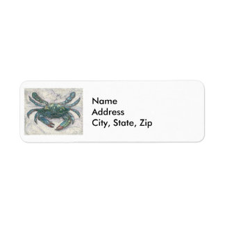 Chesapeake Bay Blue Crab Return Address Label