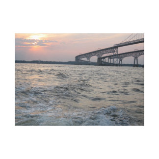 Chesapeake Bay Bridge photo Canvas Prints