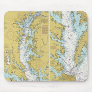 Chesapeake Bay Chart Mouse Pad