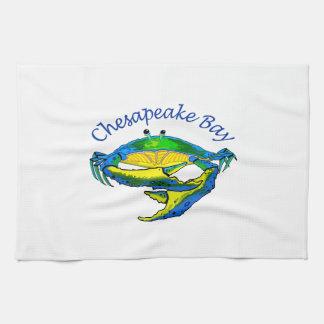 CHESAPEAKE BAY CRAB TEA TOWEL