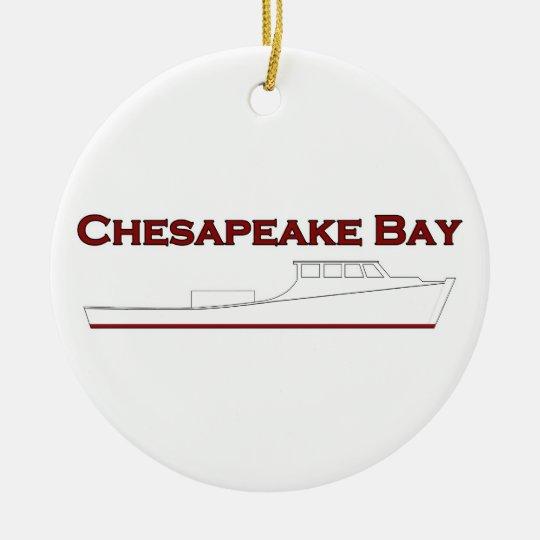 Chesapeake Bay Deadrise Workboat Christmas Ornament