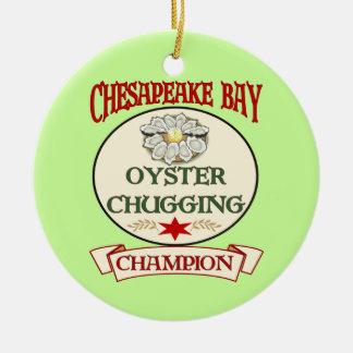 Chesapeake Bay Oyster Champ Round Ceramic Decoration