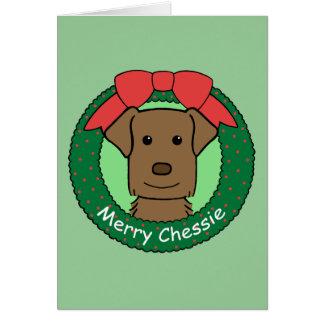 Chesapeake Bay Retriever Christmas Greeting Card