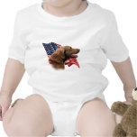 Chesapeake Bay Retriever Flag Baby Bodysuit