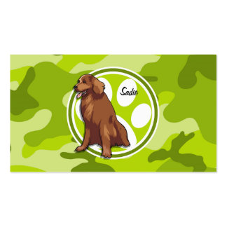 Chesapeake Bay Retriever green camo camouflage Business Card Template